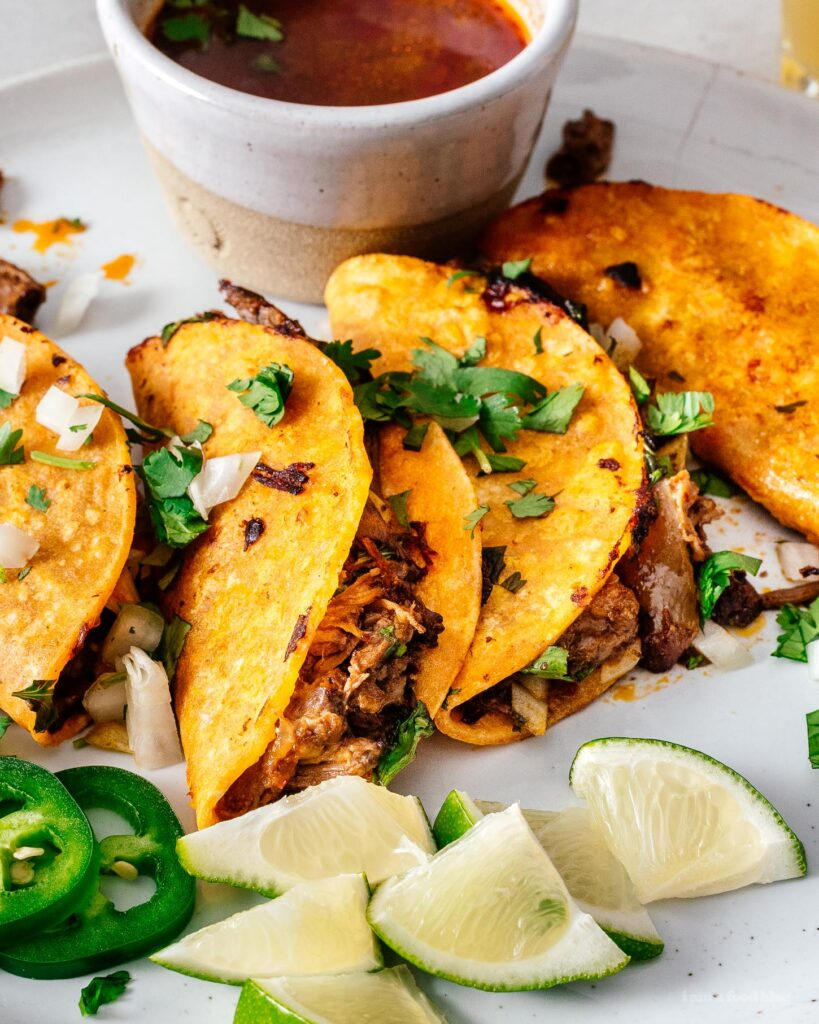 Homemade birria tacos recipe for dinner