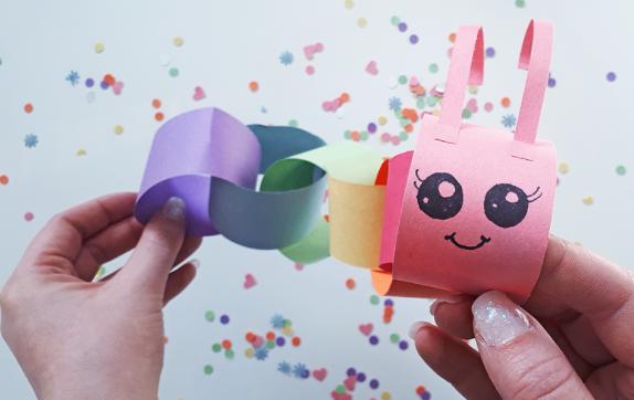 Super cute caterpillar paper chain