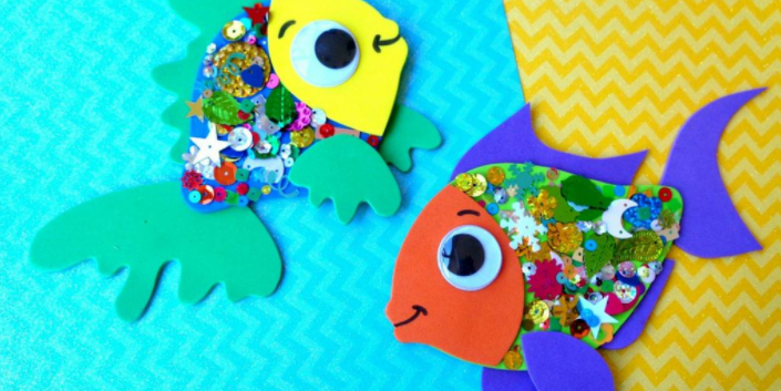 A cute confetti fish crafts for little ones summer craft