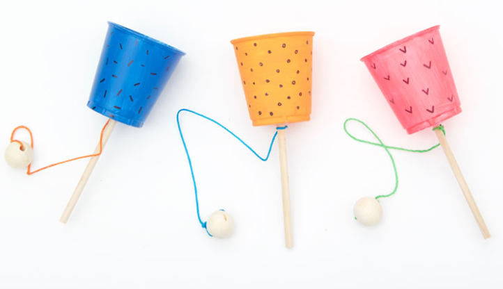 Cup and ball game exciting craft for kids