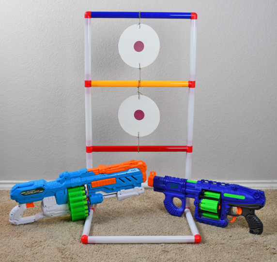 Homemade nerf target for indoor and outdoor activity for kids