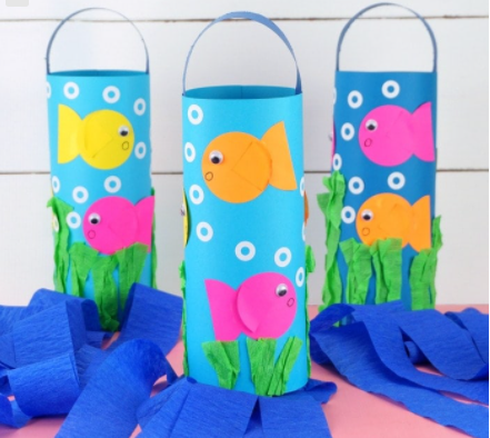 A cute fish windsocks for the little ones summer craft