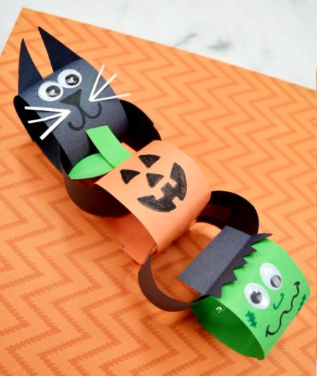 Halloween paper chain