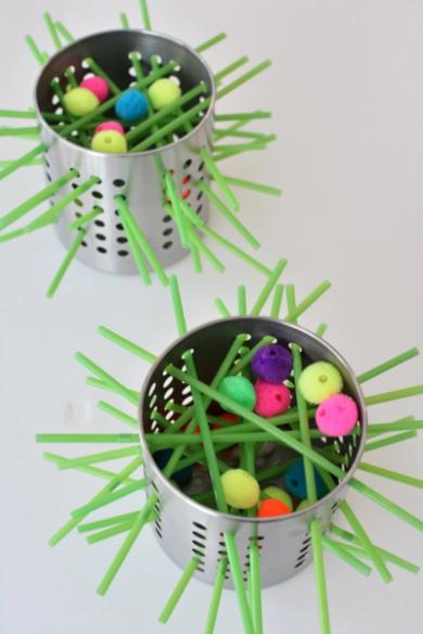 Homemade kerplunk game fun brain activity for kids