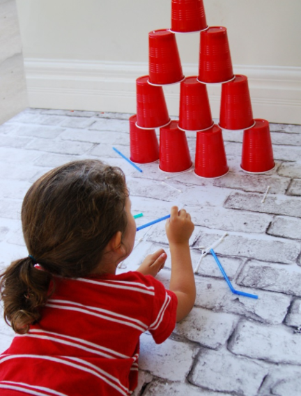 Q-Tip blow dart game exciting summer brain building for kids
