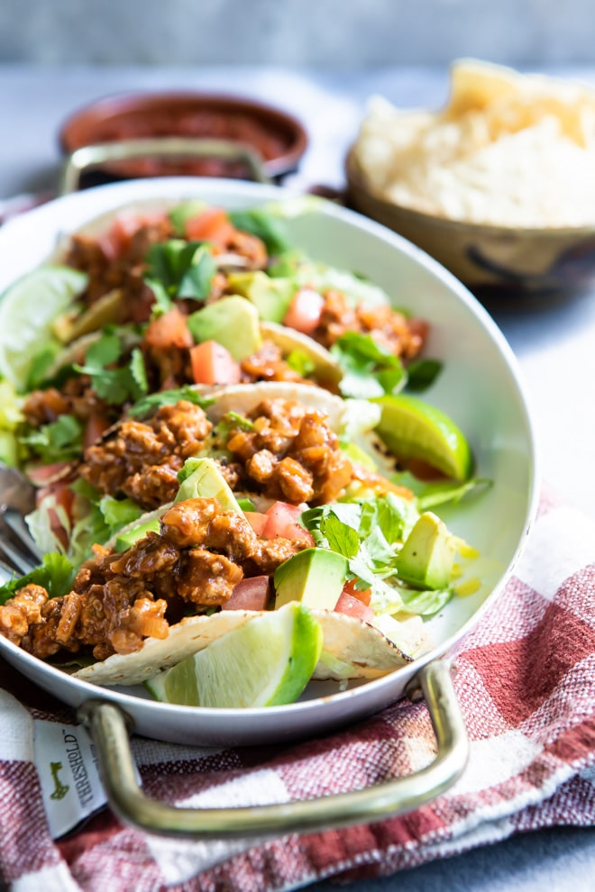 A juicy ground turkey tacos recipe under 15 minutes