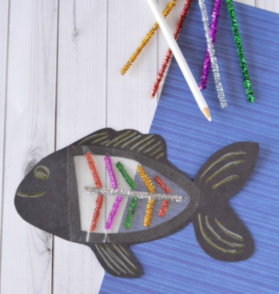 A letter x, bones and x-ray fish craft for kids