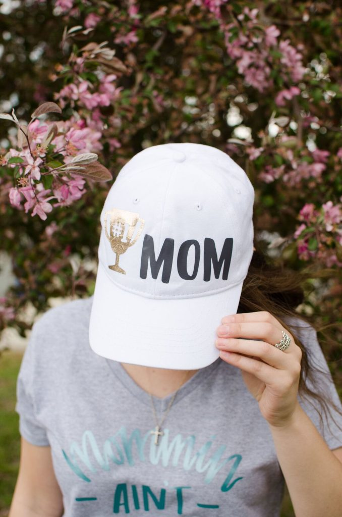 A homemade cap cricut mother's day gift holiday craft project