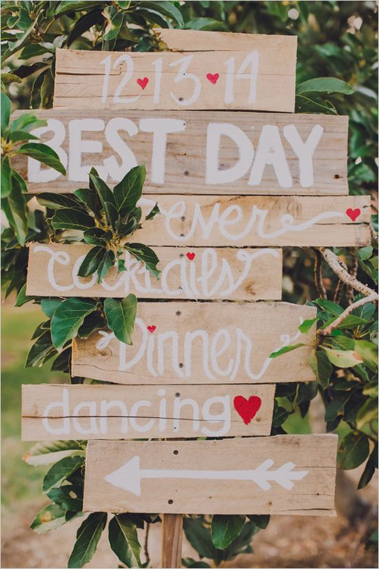 Best day ever wedding sign with the date of the wedding