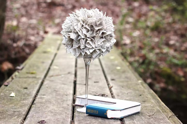 Homemade dollar tree cool centerpieces paper craft decor