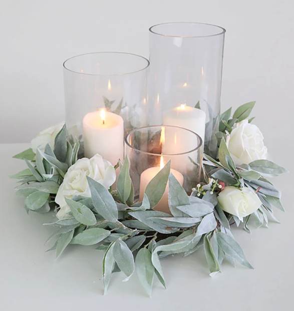 Homemade minimalist rustic cylinder vases centerpieces