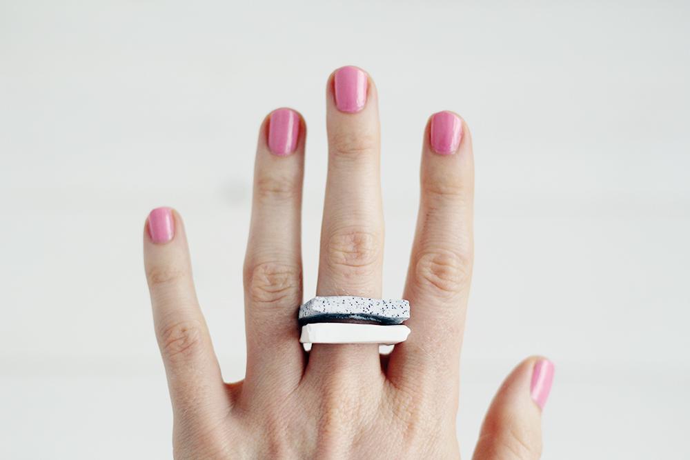 faux granite rings