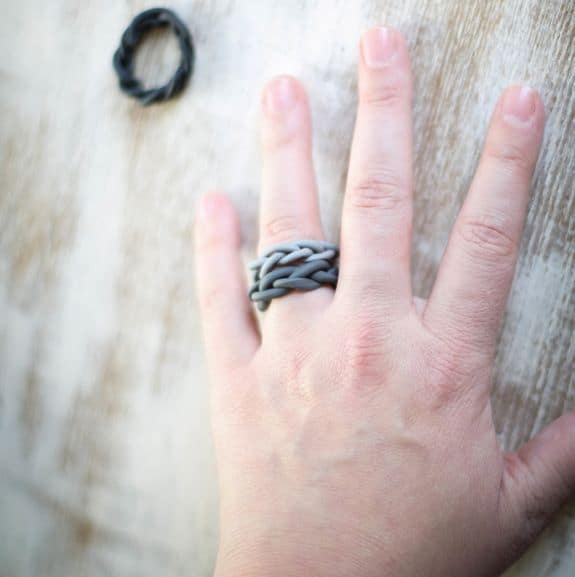 Braided ombre clay ring