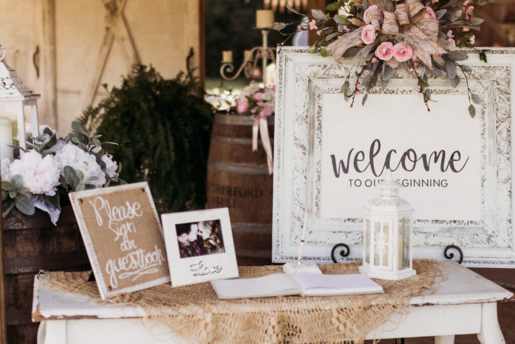 Beautiful Cricut wedding sign says Welcome To our Beginning