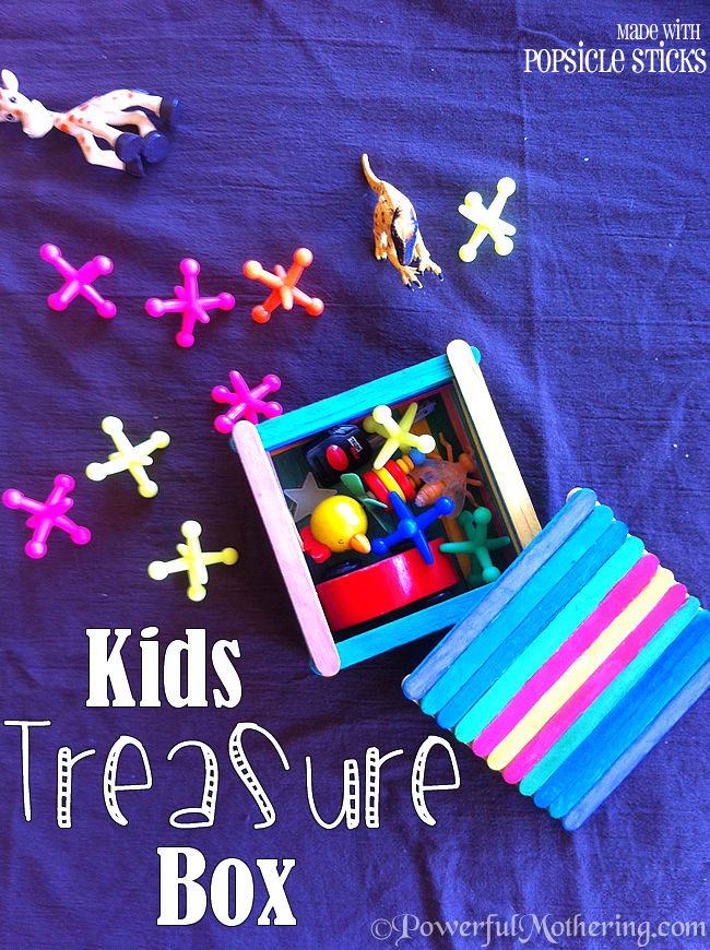 A colorful popsicle sticks treasure box perfect craft for kids