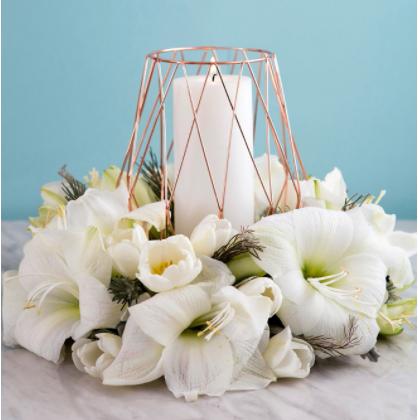 Homemade beautiful table wreath flower centerpiece