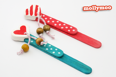 An easy to make handmade and colorful popsicle stick craft present for kids