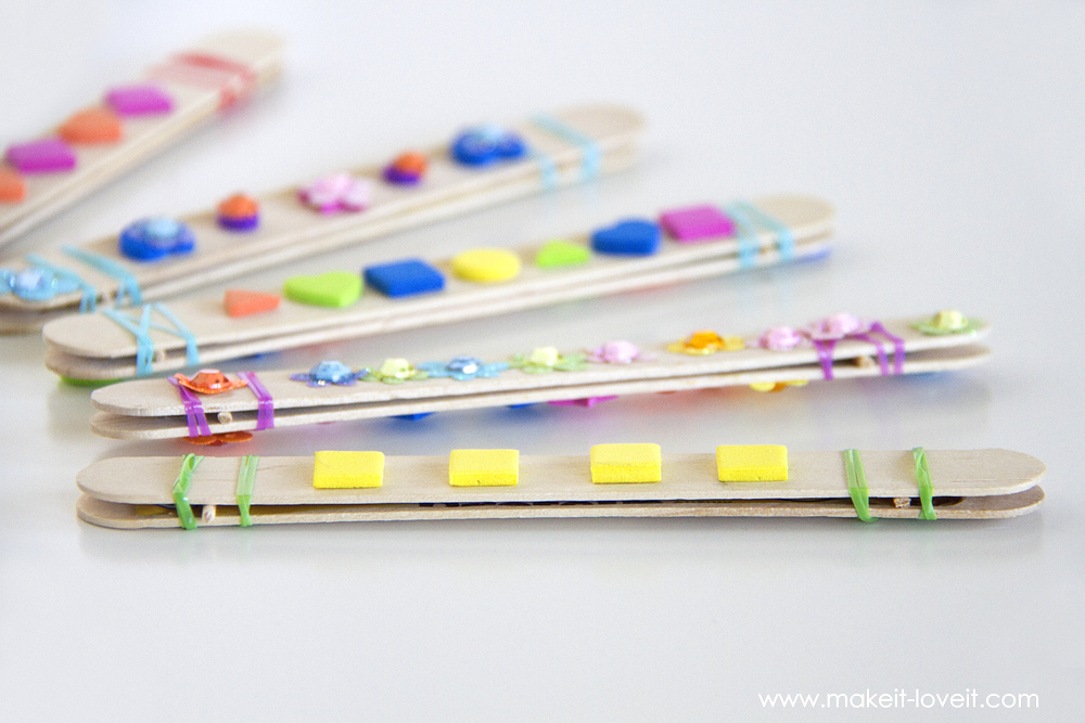 A fun and exciting craft stick harmonicas to make with kids