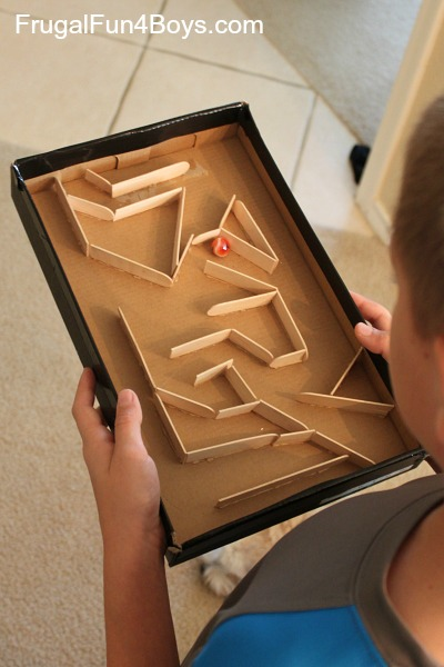 A marble run made of popsicle sticks perfect and fun classroom stem challenge for kids