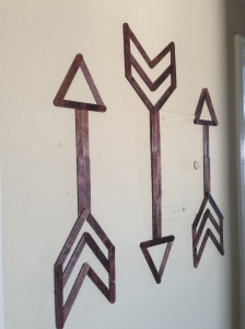 An easy to make homemade popsicle stick wall art for kids and adults