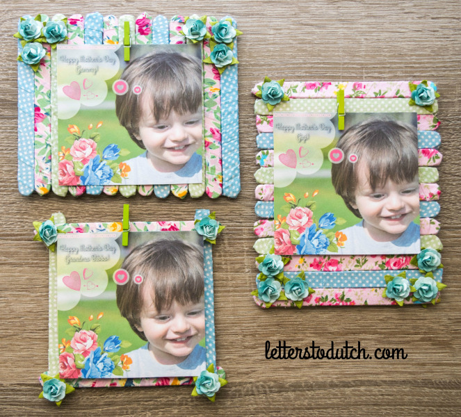 A handmade and unique popsicle stick picture frame perfect room wall decor