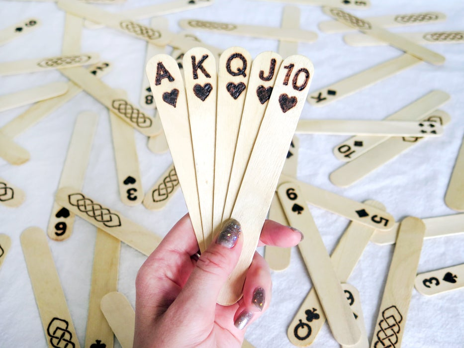 A fun and unique popsicle stick playing cards to make
