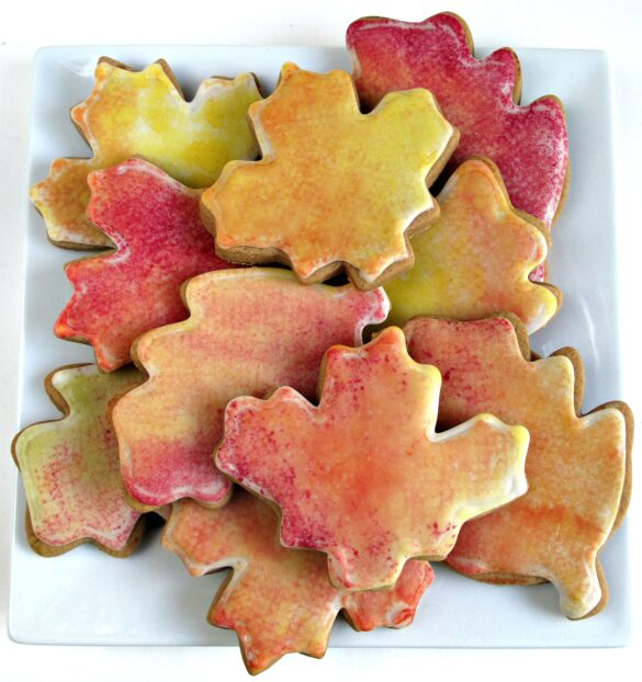 Gingerbread fall leaves