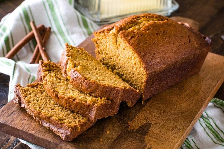 Tender, moist and delicious pumpkin bread