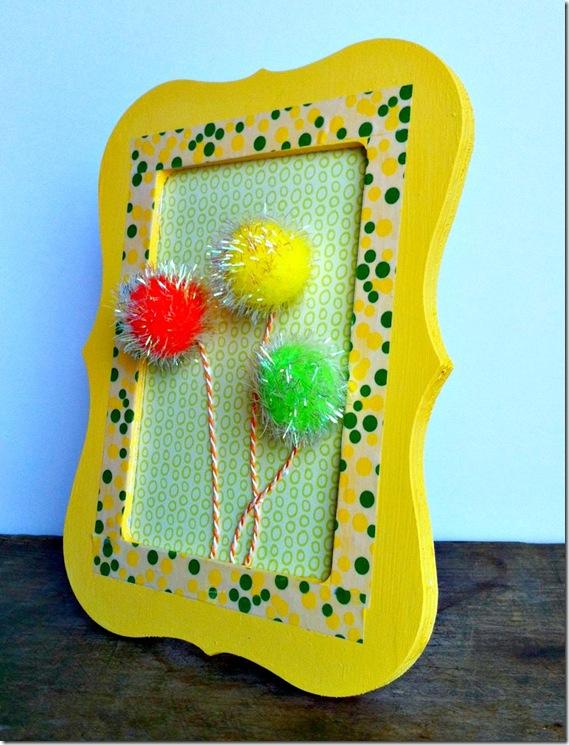 Dr. Seuss Framed Truffula Trees Easy and Fun Craft